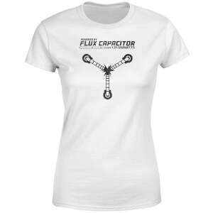 Back To The Future Powered By Flux Capacitor Women's T-Shirt - White