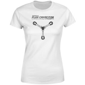 T-Shirt Femme Retour vers le Futur - Rechargé par le Convecteur Temporel - Blanc