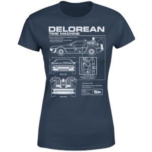 Camiseta Regreso al futuro DeLorean - Mujer - Azul marino