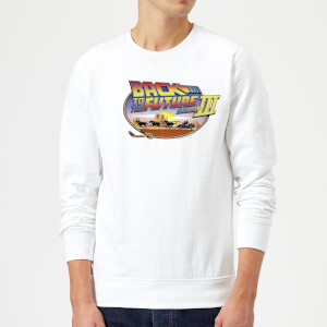 Back To The Future Lasso Sweatshirt - White