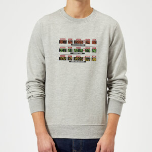 Back To The Future Destination Clock Sweatshirt - Grey