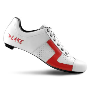 Lake CX1 Road Shoes - White/Red