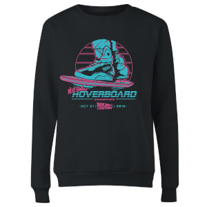 Back To The Future Hill Valley Hoverboard Champ Women's Sweatshirt - Black