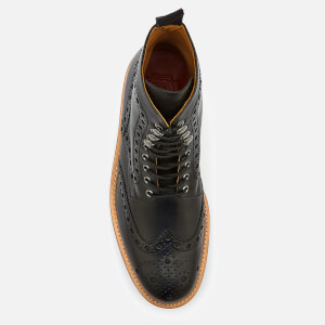 Grenson Men's Fred Leather Commando Sole Lace Up Boots - Black: Image 3