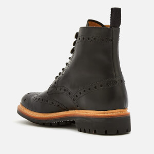 Grenson Men's Fred Leather Commando Sole Lace Up Boots - Black: Image 2