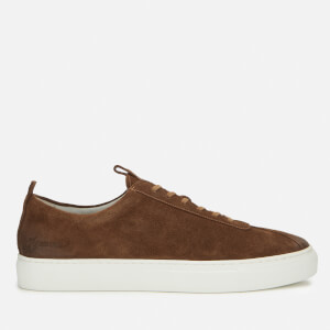 Grenson Men's Sneaker 1 Burnished Suede Trainers - Snuff