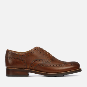 Grenson Men's Stanley Hand Painted Grain Leather Brogues - Tan: Image 1