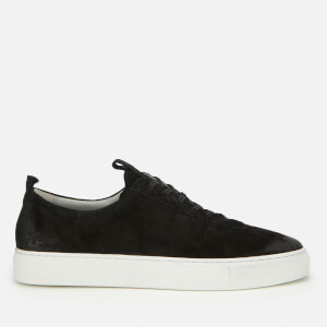 Grenson Men's Sneaker 1 Burnished Suede Trainers - Black