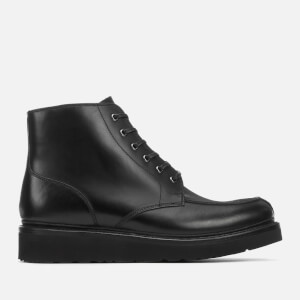 Grenson Men's Buster Pull Up Leather Lace Up Boots - Black