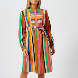 PS by Paul Smith Women's Bold Stripe Shirt Dress - Dark Navy