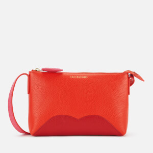 Lulu Guinness Women's Hearts and Lips Marie Cross Body Bag - Orange/Red