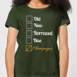 Champagne Tick Box Women's T-Shirt - Forest Green