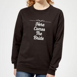 Here Comes The Bride Women's Sweatshirt - Black