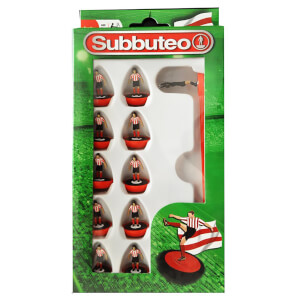 Subbuteo Red and White Stripe Team