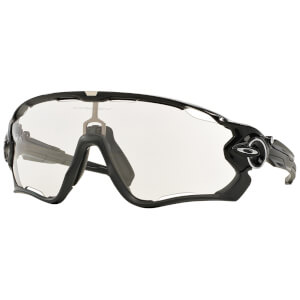 Oakley Jawbreaker Photochromic Road Sonnenbrille- Polished Black