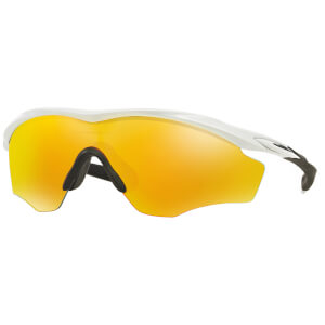Oakley M2 XL Frame ロード用サングラス - Polished White/Fire Irdium