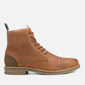 Barbour Men's Dalton Leather Toe Cap Lace Up Boots - Cognac Texas