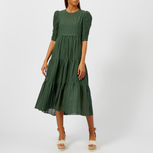 See by Chloé Women's Maxi Dress - Deep Green Marble