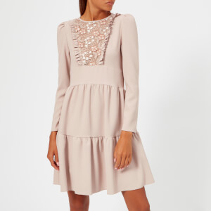 See By Chloé Women's Lace Dress - Bark Grey