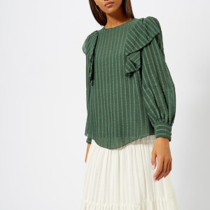 See By Chloé Women's Long Sleeve Blouse - Deep Green Marble