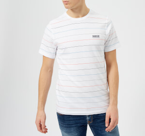 Barbour International Men's Disc Stripe T-Shirt - White