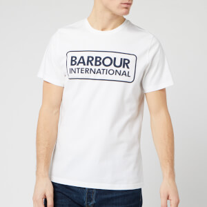 Barbour International Men's Essential Large Logo T-Shirt - White