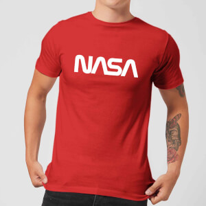 NASA Worm Weiß Logotype T-Shirt - Rot