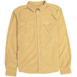 Wrangler Men's 2 Pocket Micro Cord Shirt - Clay Beige