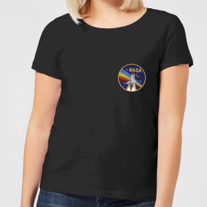 NASA Vintage Rainbow Shuttle Damen T-Shirt - Schwarz