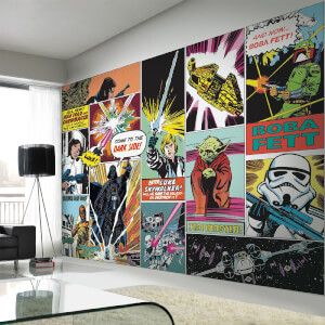Star Wars Retro Comic Pop Art Wall Mural