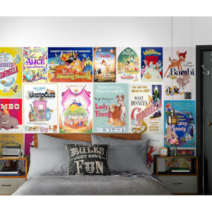 Disney Girls Vintage Film Wall Mural
