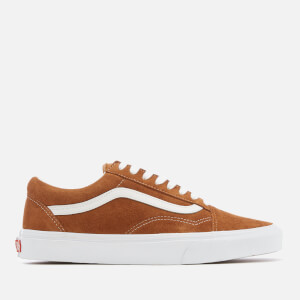 Vans Men's Old Skool Suede Trainers - Leather Brown/True White