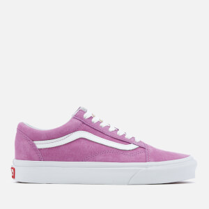 Vans Women's Old Skool Suede Trainers - Purple/True White