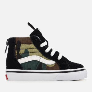 5d06116d34 Vans Toddlers  Sk8-Hi Zip Woodland Camo Trainers - Black Woodland