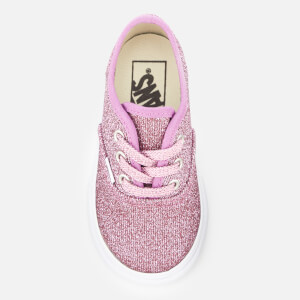 Vans Toddlers' Authentic Lurex Glitter Trainers - Pink/True White: Image 3