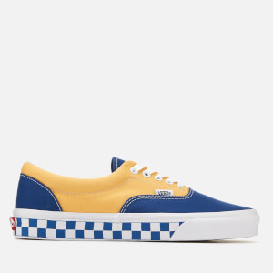 Vans Men's Era BMX Checkerboard Trainers - True Blue/Yellow
