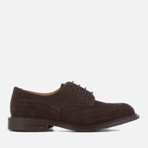 Tricker's Men's Bourton Reverse Suede Dainite Sole Brogues - Coffee