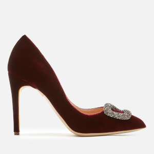 Rupert Sanderson Women's Malory Swarovski Pebble Velvet Court Shoes - Supernova