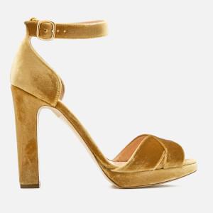 Rupert Sanderson Women's Meadow Velvet Platform Heeled Sandals - Stardust