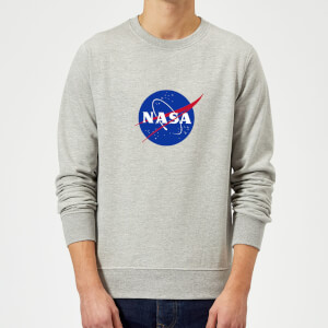 Sweat Homme Logo Insignia NASA - Gris
