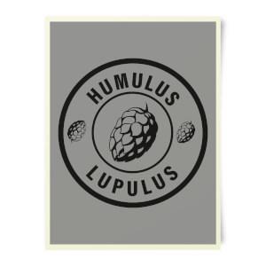 Beershield Humulus Lupulus Art Print