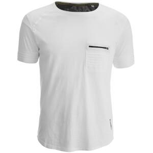 T-Shirt Homme Gilera Poche à Fermeture Éclair Ringspun - Blanc
