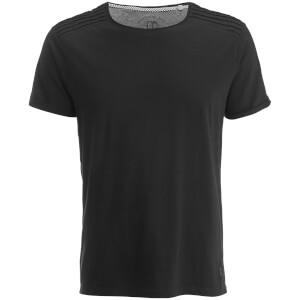 T-Shirt Homme Épaules Texturées Ringspun - Noir