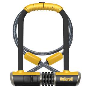 OnGuard Bulldog Standard Shackle U-Lock/Cable Combo - 115mm x 230mm x 13mm