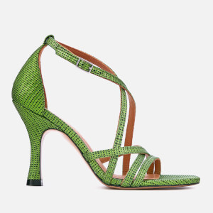 Ganni Women's Wilma Heeled Sandals - Classic Green