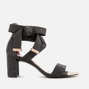 Ted Baker Women's Noxen 2 Suede Block Heeled Sandals - Charcoal