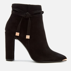 Ted Baker Women's Qatena Suede Heeled Ankle Boots - Black