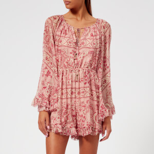 Zimmermann Women's Castile Flared Sleeve Playsuit - Filigree Stripe