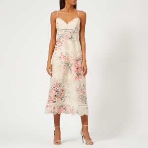 Zimmermann Women's Laelia Diamond Bralette Dress - Meadow Floral