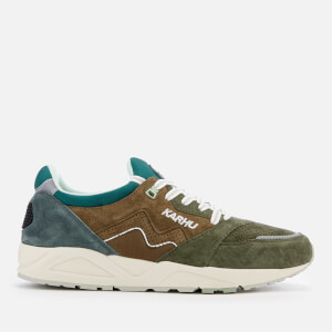 Karhu Men's Aria Runner Trainers - Military Olive/Green Gables